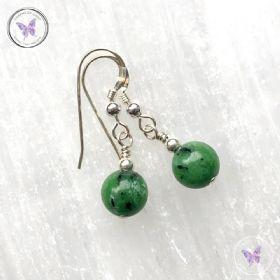 Anyolite - Ruby Zoisite - Earrings